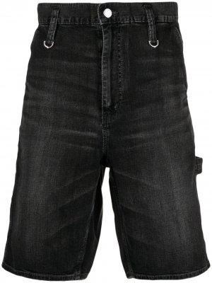 Джинсовые шорты Mastermind Japan. Цвет: черный