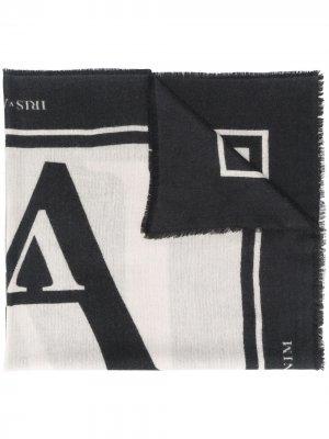 Двухцветный шарф Icon Iris Von Arnim. Цвет: серый
