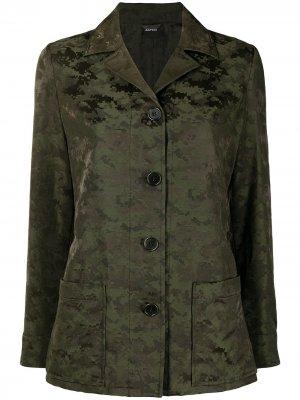 Куртка с камуфляжным узором Aspesi. Цвет: зеленый