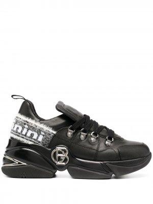 Кроссовки с логотипом Baldinini. Цвет: черный