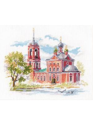 Набор для вышивания Переславль -Залесский. Сорокосвятская церковь 22х18 см.  Алиса. Цвет: красный, зеленый, серый
