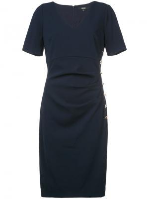 Платье по фигуре Badgley Mischka. Цвет: синий