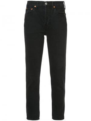 Укороченные джинсы Re/Done. Цвет: черный