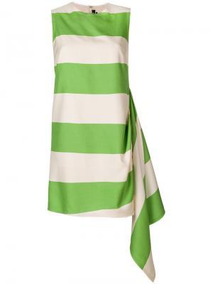Платье в полоску Calvin Klein 205W39nyc. Цвет: зеленый