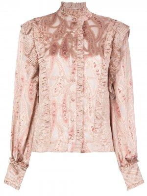 Блузка Eline с принтом пейсли Alexis. Цвет: розовый