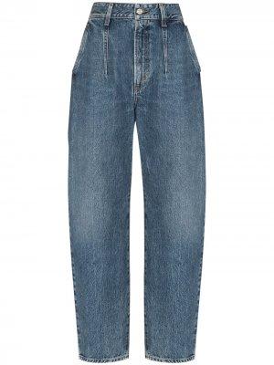 Зауженные джинсы с завышенной талией AGOLDE. Цвет: синий