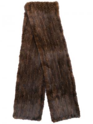 Long fur scarf Liska. Цвет: коричневый