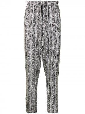 Пижамные брюки с цветочным принтом Dolce & Gabbana. Цвет: черный