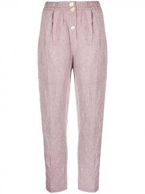 Прямые брюки с пуговицами Forte. Цвет: розовый