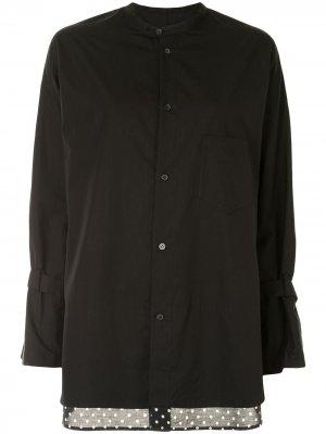 Блузка в горох Yohji Yamamoto. Цвет: черный
