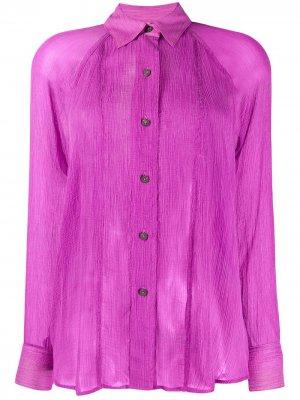 Полупрозрачная рубашка с длинными рукавами Mara Hoffman. Цвет: фиолетовый