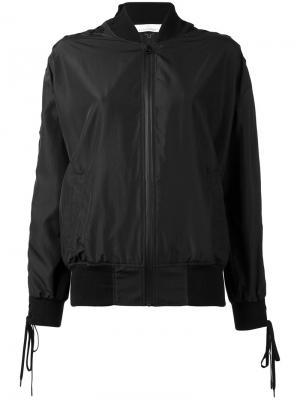 Куртка-бомбер  со шнуровкой на рукавах A.F.Vandevorst. Цвет: чёрный