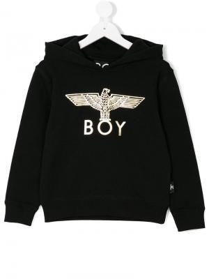 Толстовка с капюшоном принтом логотипа Boy London Kids. Цвет: черный