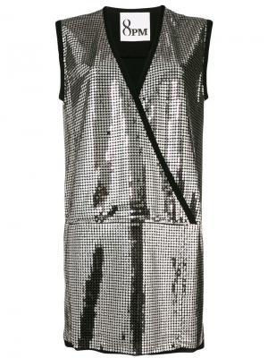 Платье с отделкой пайетками 8pm. Цвет: металлик