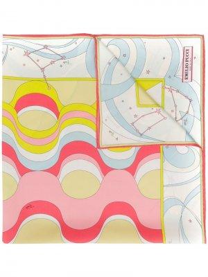 Шейный платок с принтом Emilio Pucci. Цвет: нейтральные цвета