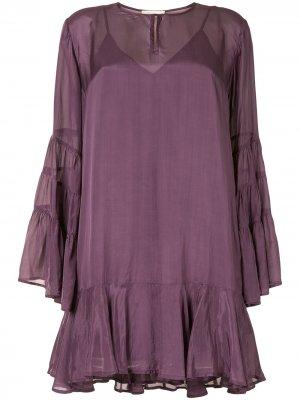 Ярусное платье-трапеция Mes Demoiselles. Цвет: фиолетовый
