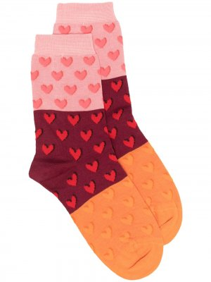 Носки с принтом Paul Smith. Цвет: оранжевый