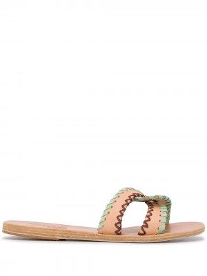 Шлепанцы Desmos с контрастной строчкой Ancient Greek Sandals. Цвет: нейтральные цвета