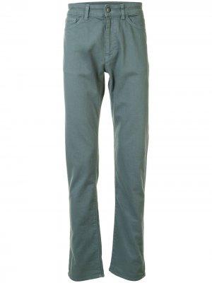 Прямые джинсы средней посадки Gieves & Hawkes. Цвет: зеленый