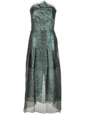 Платье Saranda с эффектом металлик Roland Mouret. Цвет: зеленый