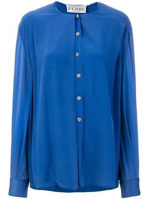 Рубашка без воротника Gianfranco Ferré Pre-Owned. Цвет: синий