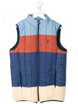 Block colour gilet Bobo Choses. Цвет: синий