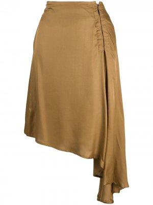 Драпированная юбка Ann Demeulemeester. Цвет: золотистый