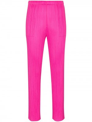 Плиссированные брюки прямого кроя Pleats Please Issey Miyake. Цвет: розовый