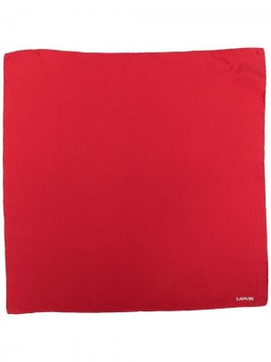 Платок-паше с логотипом LANVIN. Цвет: красный