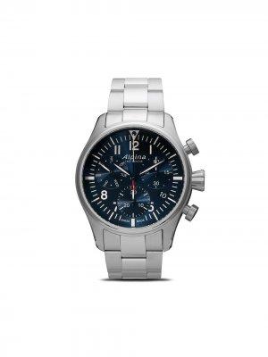 Наручные часы Startimer Pilot Chronograph Quartz 42 мм Alpina. Цвет: голубой