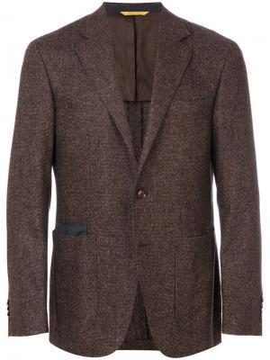 Твидовый пиджак Canali. Цвет: коричневый
