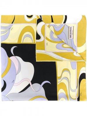 Платок Hanami с принтом Emilio Pucci. Цвет: желтый