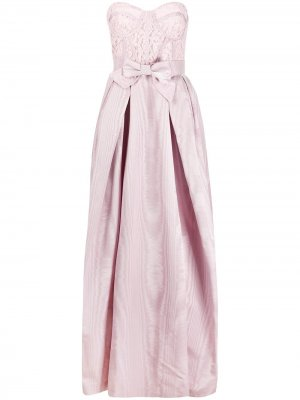 Платье с кружевом Zuhair Murad. Цвет: фиолетовый