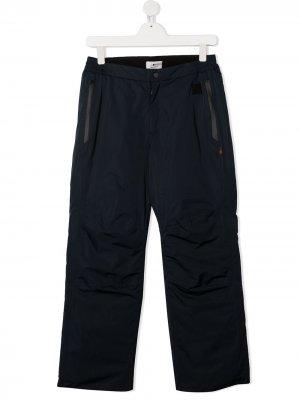 Лыжные брюки прямого кроя Woolrich Kids. Цвет: синий