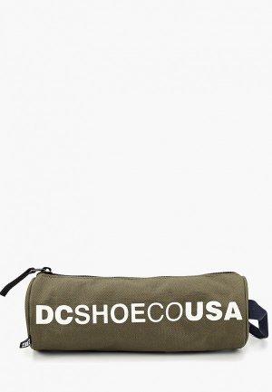 Пенал DC Shoes. Цвет: хаки