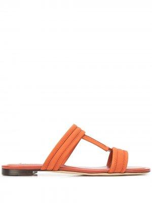 Tods сандалии с Т-образным ремешком Tod's. Цвет: оранжевый