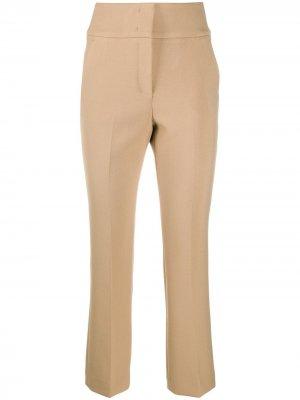 Строгие брюки прямого кроя Peserico. Цвет: нейтральные цвета