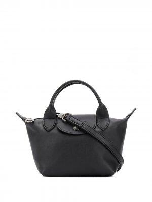 Мини-сумка Le Pliage Cuir Longchamp. Цвет: черный