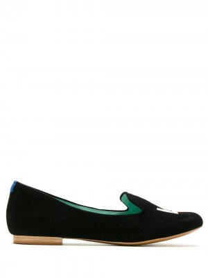 Лоферы Prisma Blue Bird Shoes. Цвет: черный