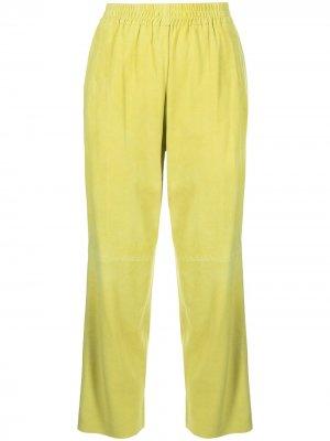 Укороченные брюки Pinko. Цвет: желтый