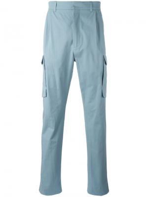 Зауженные брюки-карго Qasimi. Цвет: синий