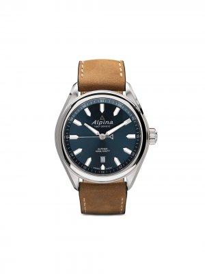 Наручные часы Alpiner Quartz 42 мм Alpina. Цвет: голубой