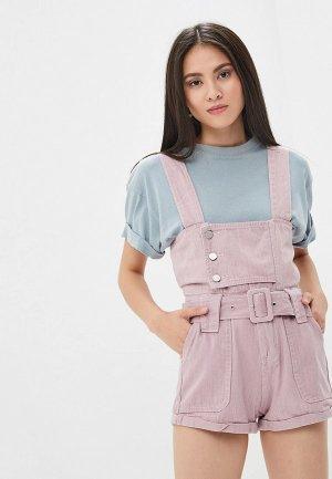 Комбинезон джинсовый Pink Frost. Цвет: розовый