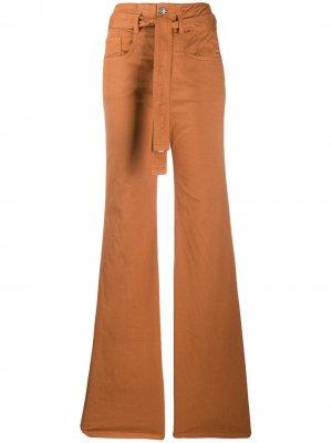 Расклешенные брюки Veronica Beard. Цвет: оранжевый
