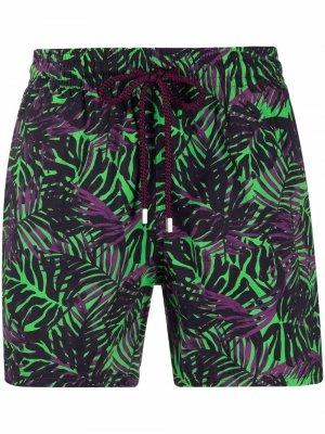 Плавки-шорты с принтом Vilebrequin. Цвет: зеленый