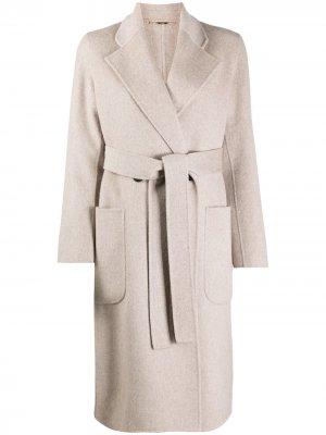 Длинное пальто с поясом Seventy. Цвет: нейтральные цвета