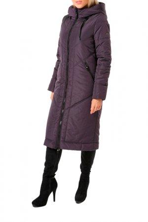 Пальто DizzyWay. Цвет: баклажан