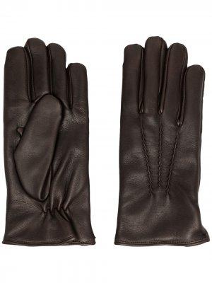 Перчатки со вставками Orciani. Цвет: коричневый