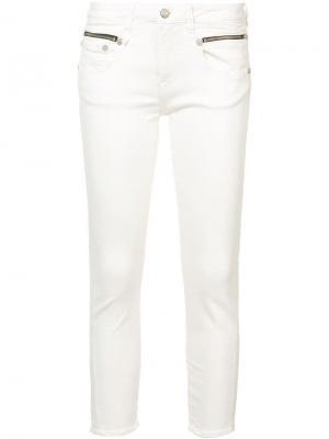 Облегающие джинсы R13. Цвет: белый