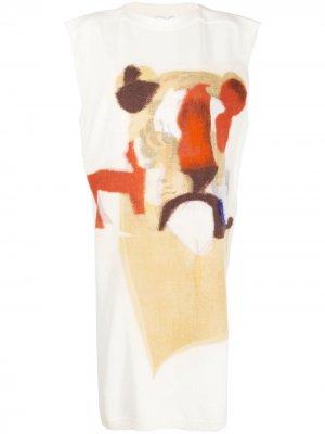 Трикотажное платье с принтом Kenzo. Цвет: нейтральные цвета